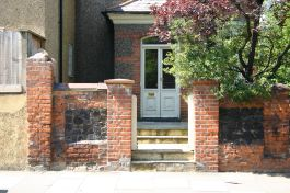 brick front wall